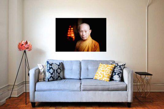 Wandbild Mönch