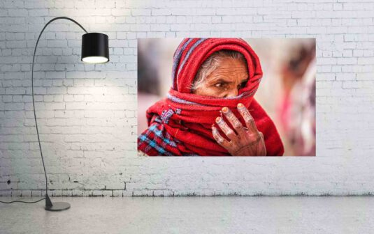 Wandbild indische Frau