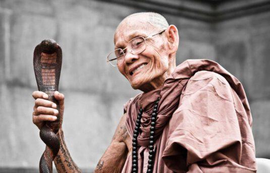 Wandbild buddhistischer Mönch