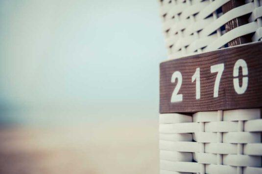 Wandbild Strandkorb