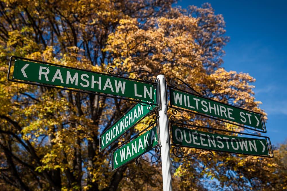 Ortsschild von Arrowtown in Neuseeland