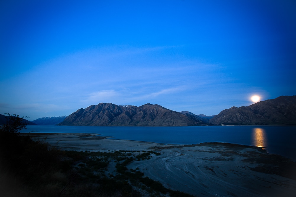 Lake Hawea in Neuseeland Nahe Queenstown