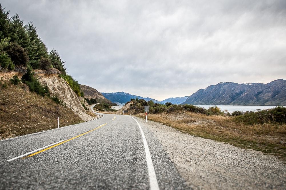 Straße in Neuseeland