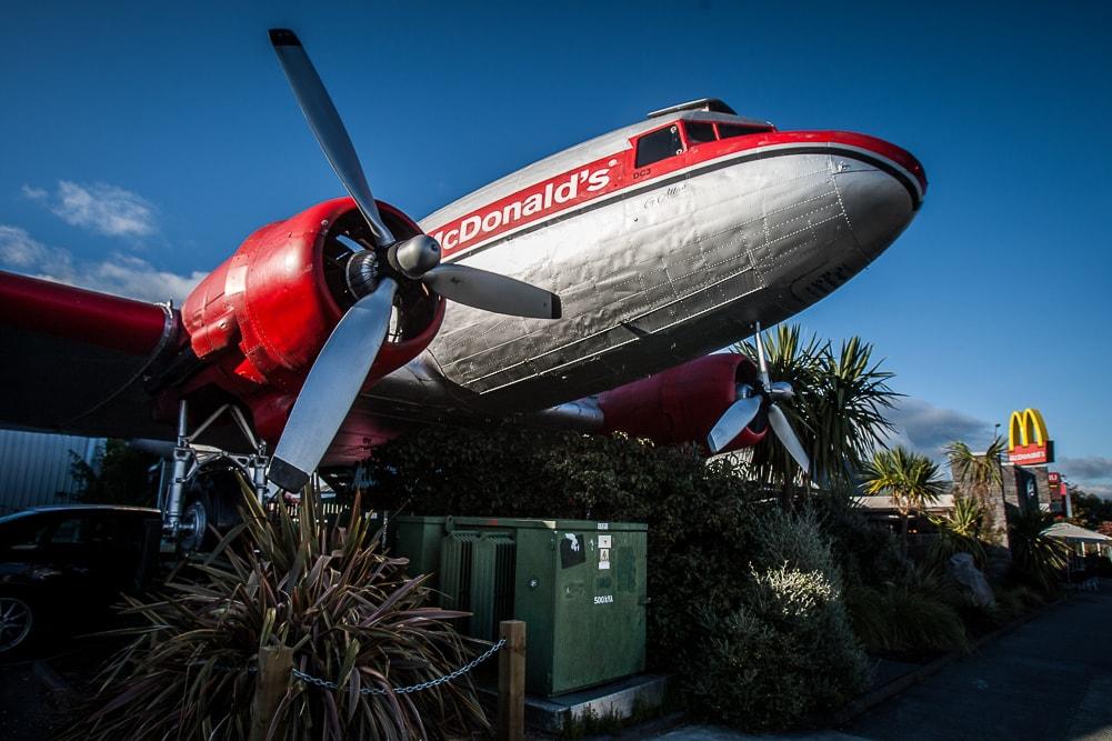 Flugzeug Mc Donalds Taupo in Neuseeland