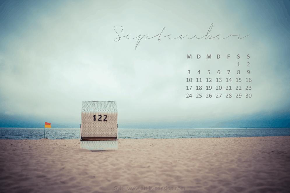kostenloser Wallpaper September Strandkorb auf Sylt