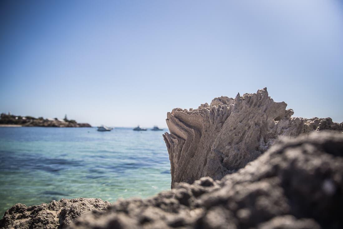 Detailaufnahme am Strand von Rottnest Island