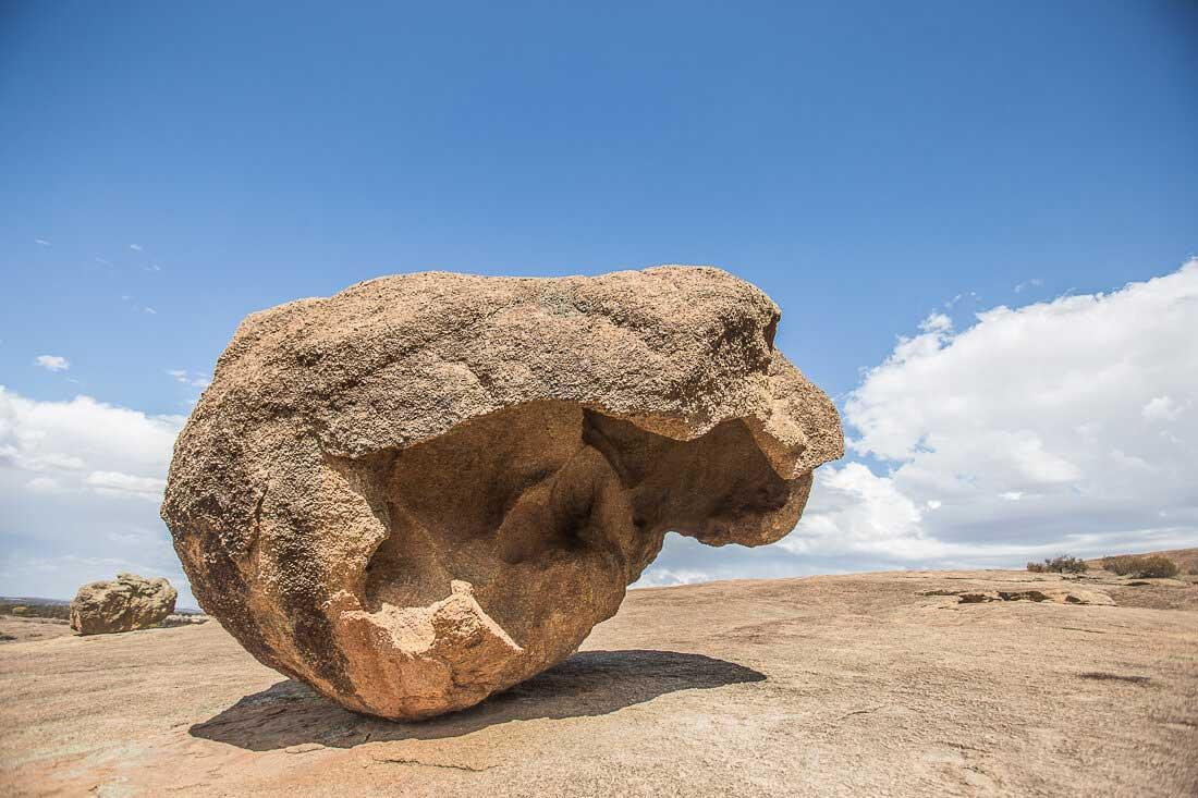 Stein auf dem Wave Rock