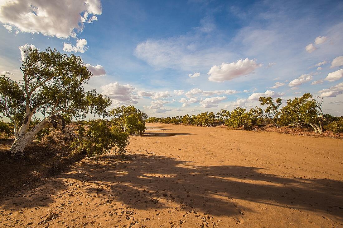 ausgetrockneter Fluss bei Wooramel Western Australia