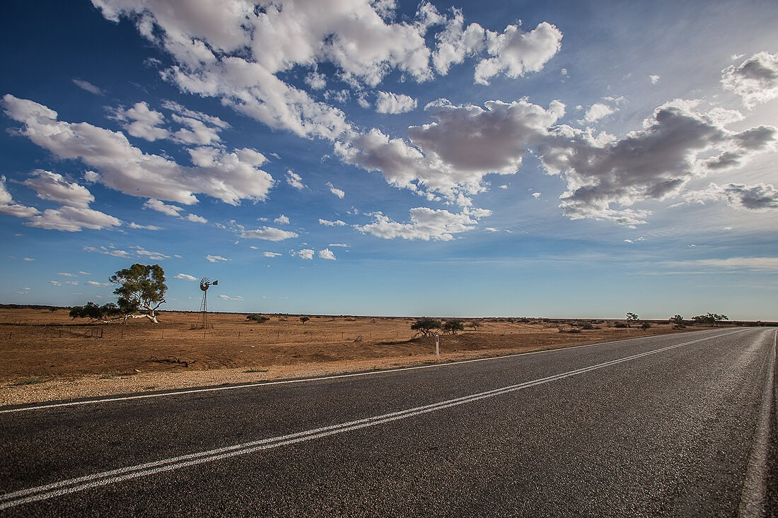 Straße im Francois Person National Park Australien