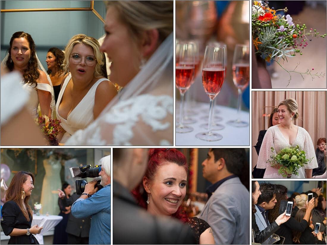 Collage von Eröffnung White Silhouette the curvy bride