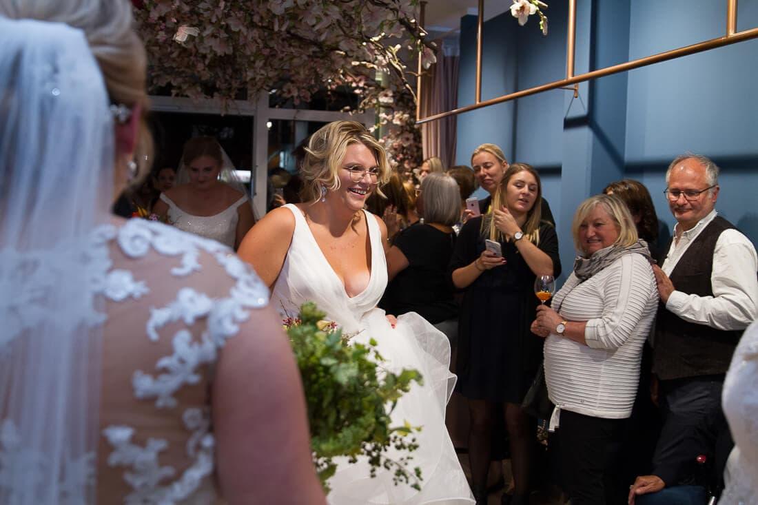 Braut bei Brautmodenschau