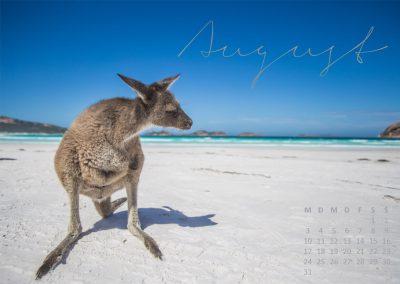 Kalender 2020 Australien - August