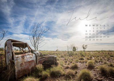 Kalender 2020 Australien - Juli