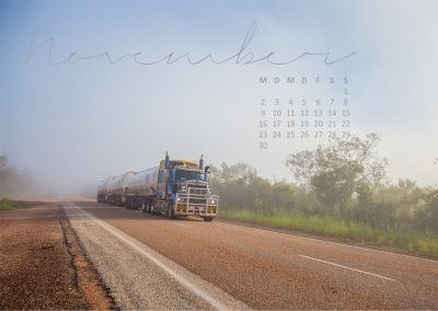 Kalender 2020 - Road Train in Australien