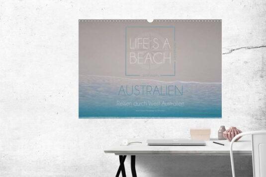 Kalender 2020 Australien life´s a beach aufgehängt