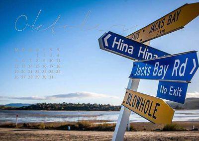 Kalender Neuseeland Monat Oktober