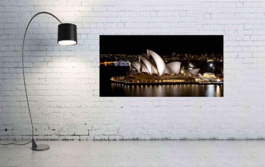Wandbild Sydney Oper und eine Lampe