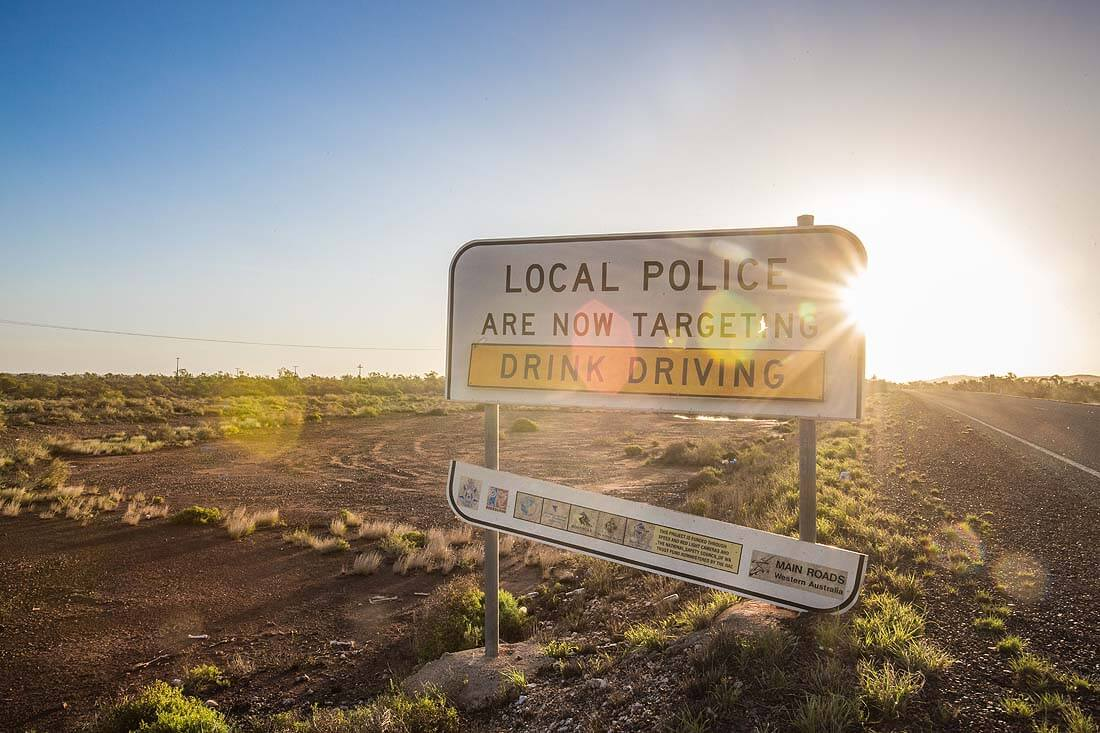 Road Sign Australien Local Police