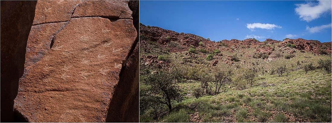 Murujuga-Nationalpark Felsmalerei Australien