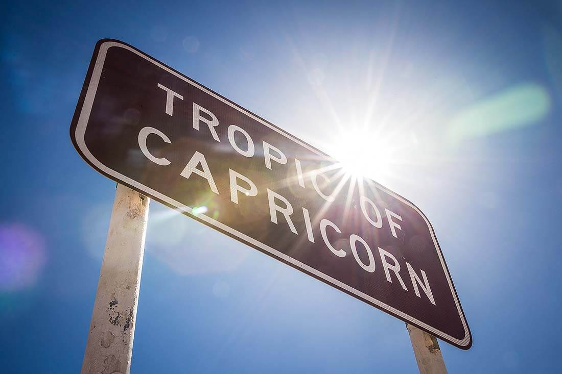 Tropic of Capricorn Sign Western Australia Nähe Exmouth