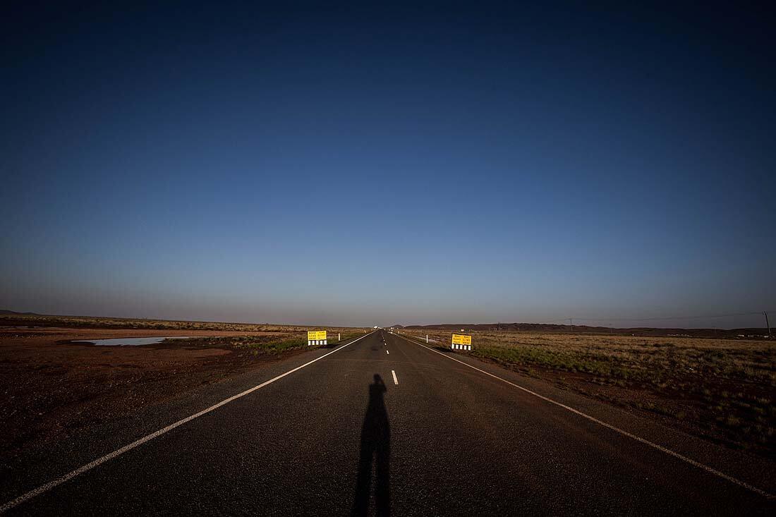 gesperrte Straße in West Australien