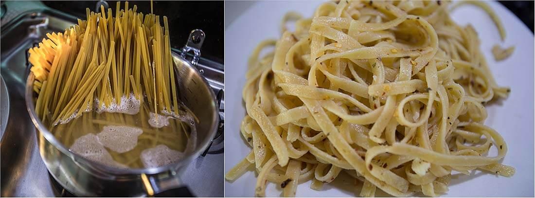 Camper Rezepte Spaghetti alio olio