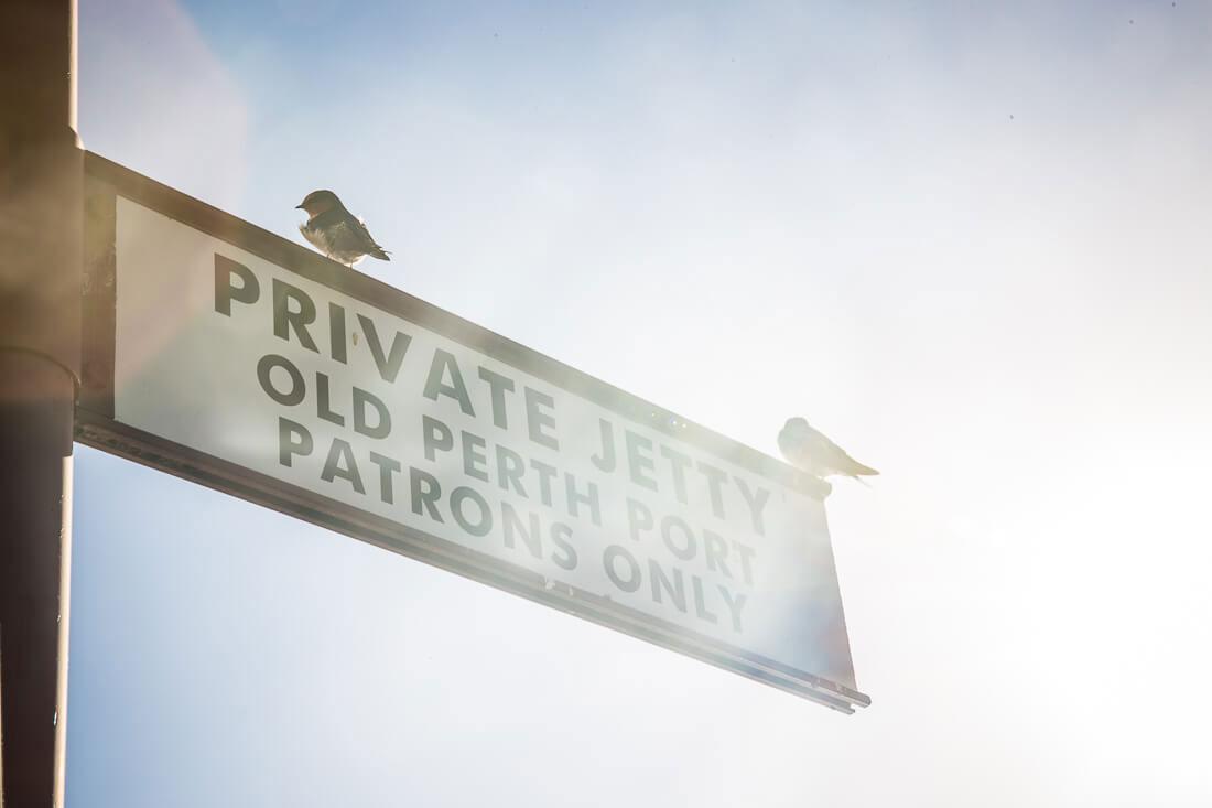 Private Jetty Perth Hafen