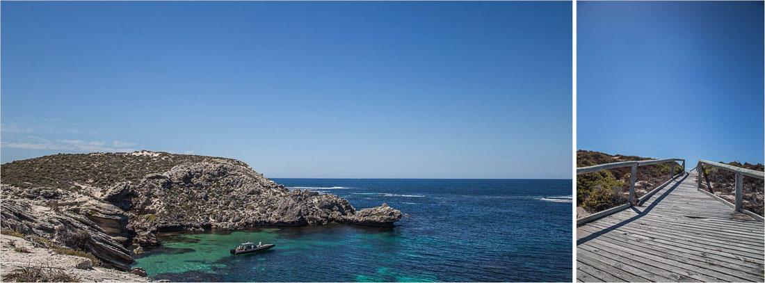 Meeresblick von Rottnest Island