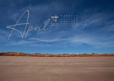Kalender 2021 Australien April