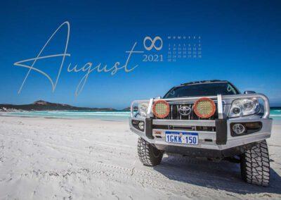 Kalender 2021 Australien August